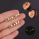 Piercing Jewelry Stainless Steel Screw Ear Bone Nail Women Mini Body Piercing Jewelry