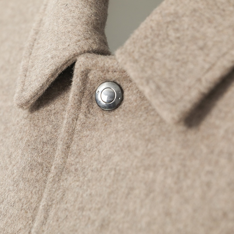 Huiquan Красивая мужская куртка из смешанной шерсти оптом, прямые мужские куртки из смешанной шерсти