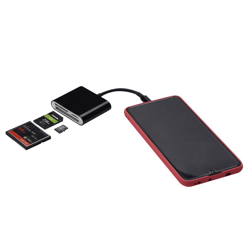 All in 1 USB 3.0 TF/CF/SD Memory Card Reader Adapter Compatible with Smartphone and More USB C Devices - USBSKY   USBSKY.NET