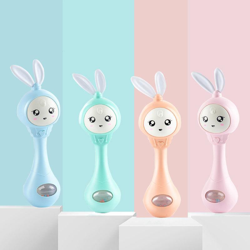 Оптовая продажа 2020, симпатичные новые детские погремушки, ручной Колокольчик, игрушка, безопасная Интеллектуальная Электрическая музыкальная игрушка