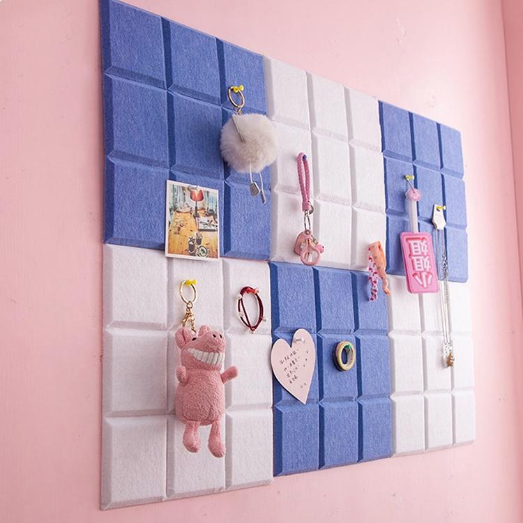 Home decoration acoustic panel felt wall mount pinboard diy square felt bulletin board memo board - Yola WhiteBoard   szyola.net