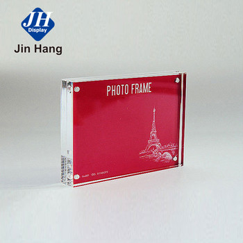 Manufacturer Professional Custom Magnetic Square Clear Acrylic Photo Frame acrylic frame