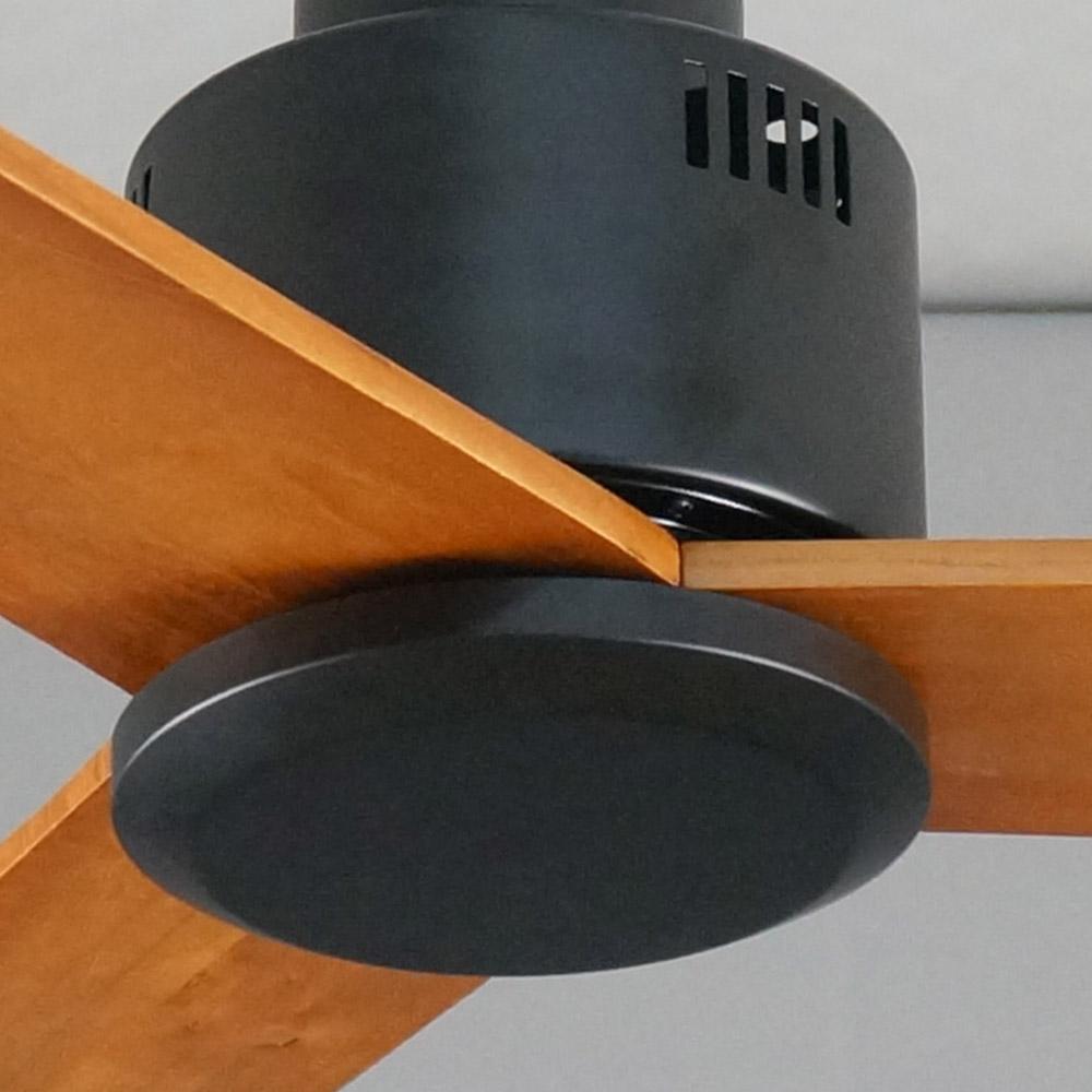 52 дюймовый современный роскошный элегантный потолочный вентилятор 30 Вт 110 В или 220 В постоянного тока с 3 деревянными лезвиями от поставщика