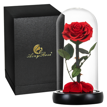 Amazon Hot Sale Forever Galaxy Glass rose Flower Gift For Girlfriend Gifts Valentine's Day
