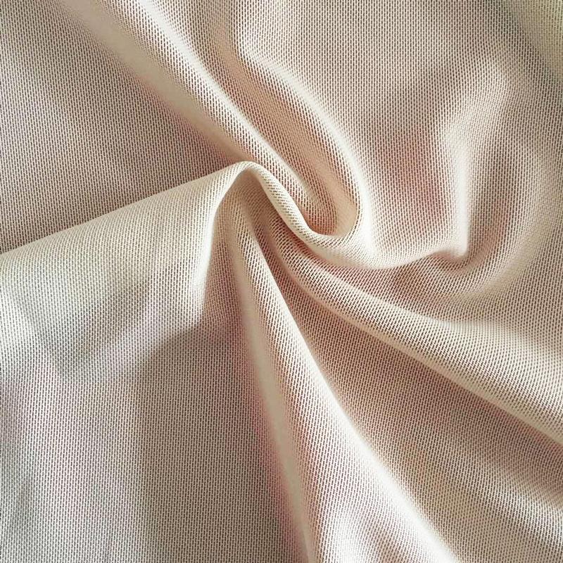 85% Polyester 15% Spandex Elastane Power Mesh Fabric for Shapewear Sexy Lingerie Bra Lining Dress Garment Factory
