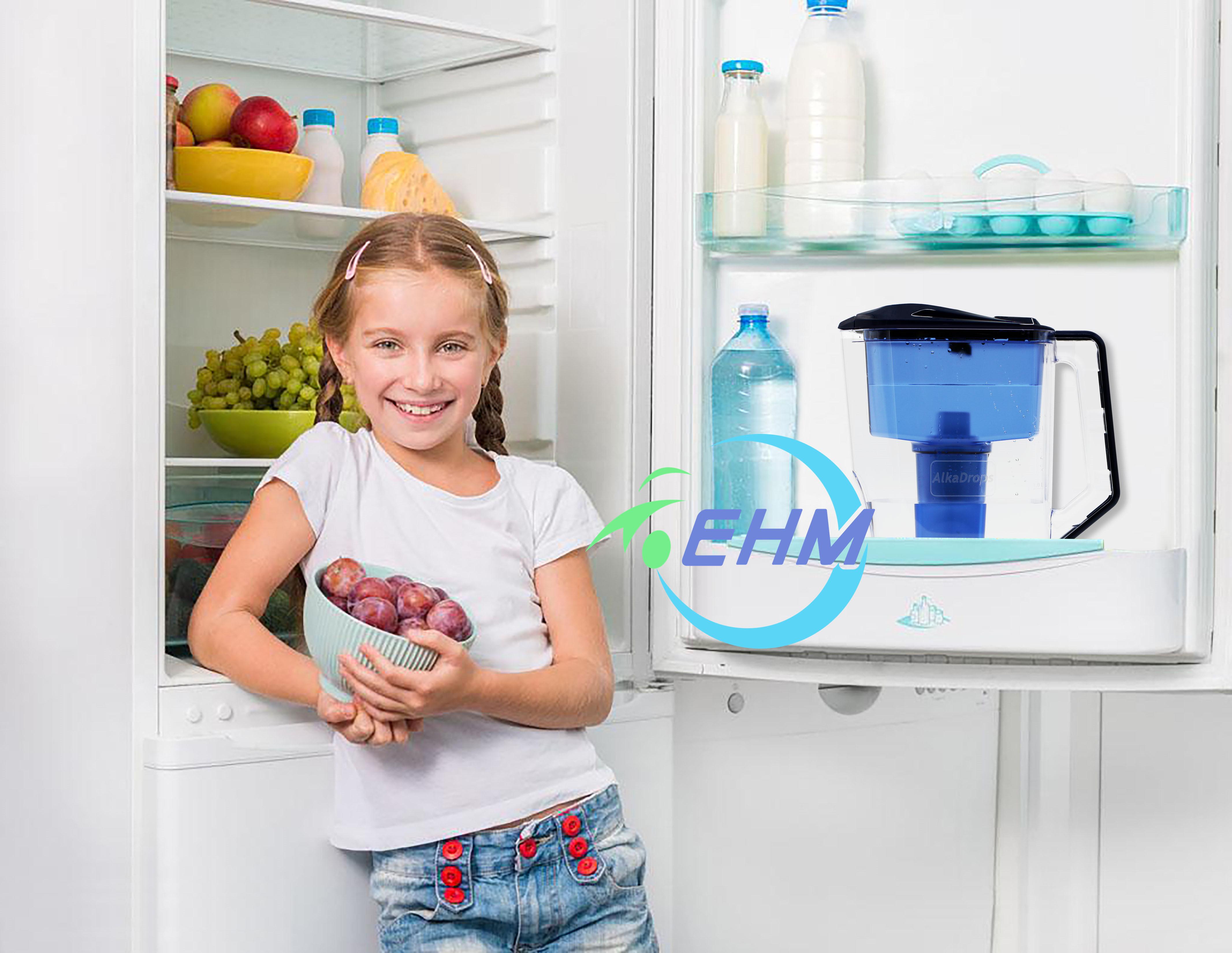 Кувшин для щелочной воды, кувшин для фильтрации чистой воды, высокое качество, без БФА, пластиковый кувшин для фильтрации воды л