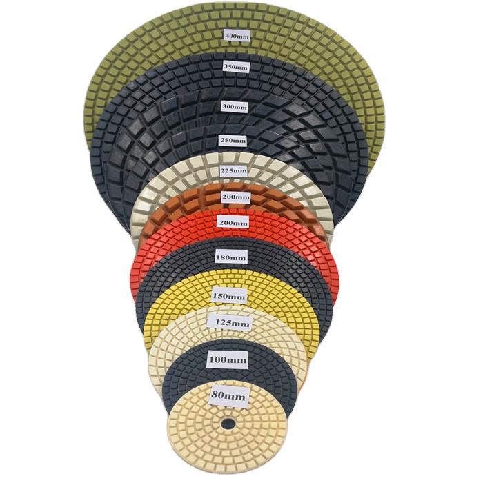 Диаметр от 180 мм до 400 мм, все виды алмазных полировальных колодок большого размера для каменного и Бетонного Пола