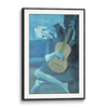 Gallery Wooden Frame Modern Black(Self Matted In Canvas)