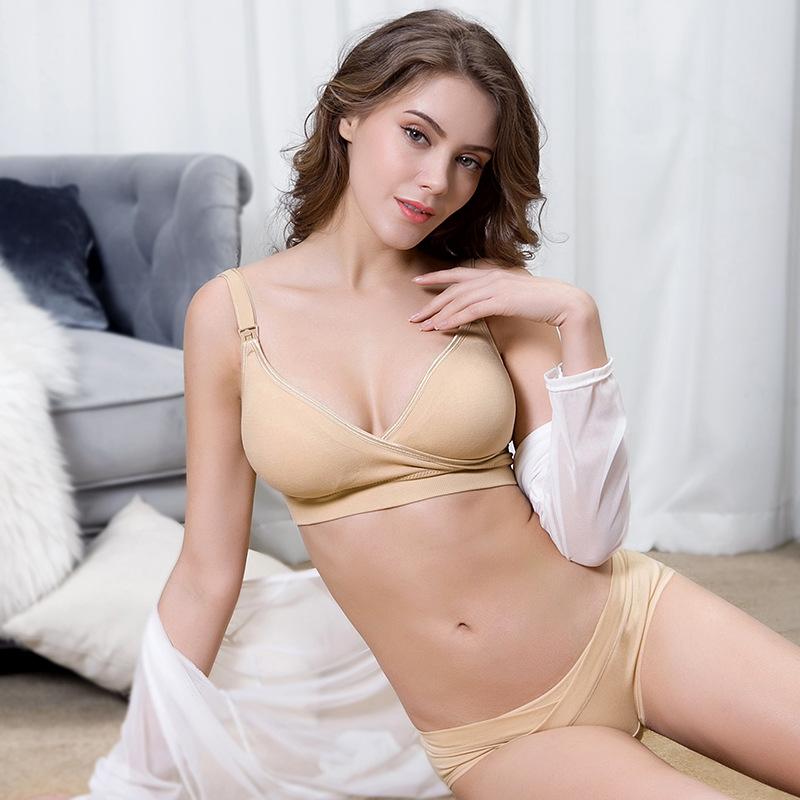 Женская одежда для беременных Бесшовные бюстгальтеры для кормления грудью без косточек