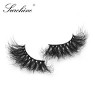 Eyelashes Surchine Thick 25mm Mink Eyelashes Full Strips Mink Eyelashes Private Label Dramatic Eyelashes With Custom Box