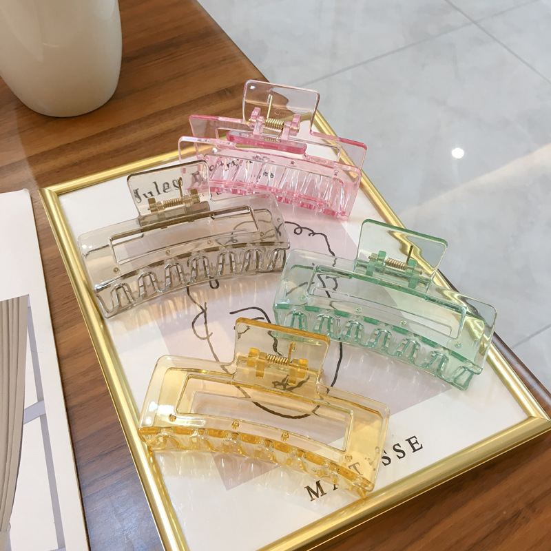 JUHU 2021 candy color clear cross plush hairpins fashion cross girls summer hair accessories jewelry gifts wholesale