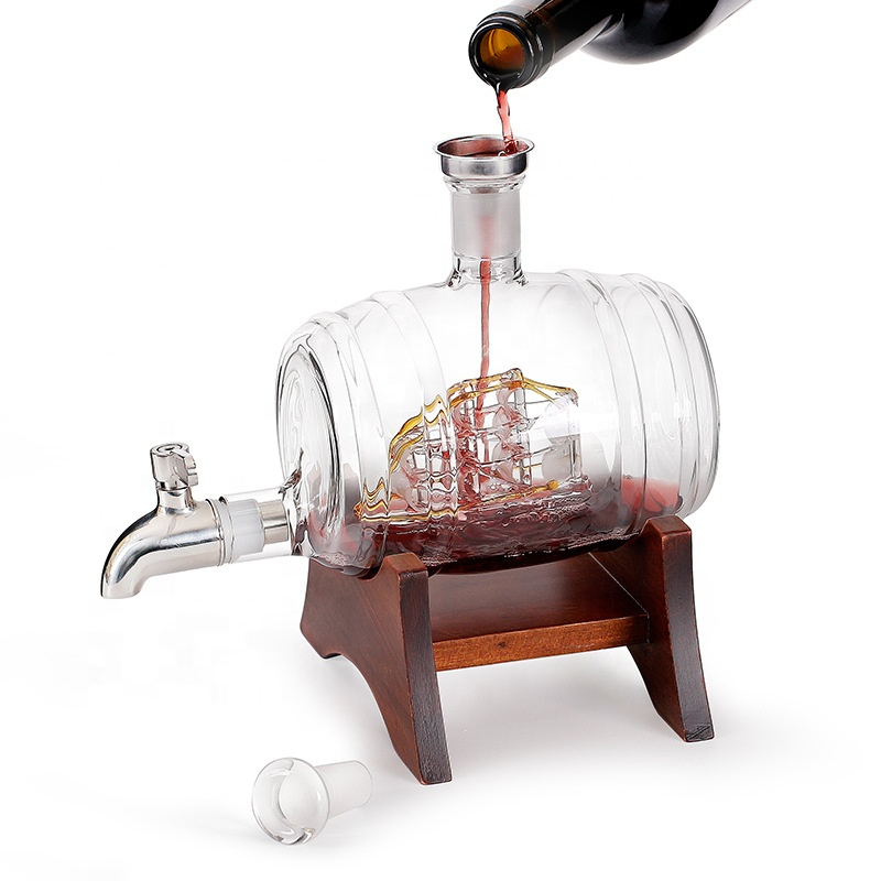 1000 мл стеклянные бутылки для виски, графин для виски с чашками, рождественский подарок