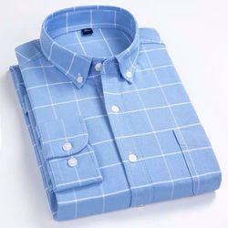 Wholesaler  Men's plaid shirt  plus size100% cotton long sleeve formal  2020 men's t shirts