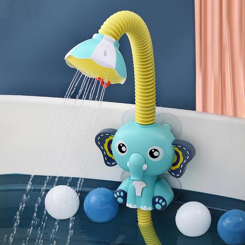 Детская игрушка для Ванной Электрический мультяшный душ слон распылитель воды игрушки Ванная комната Развивающая игра для детей