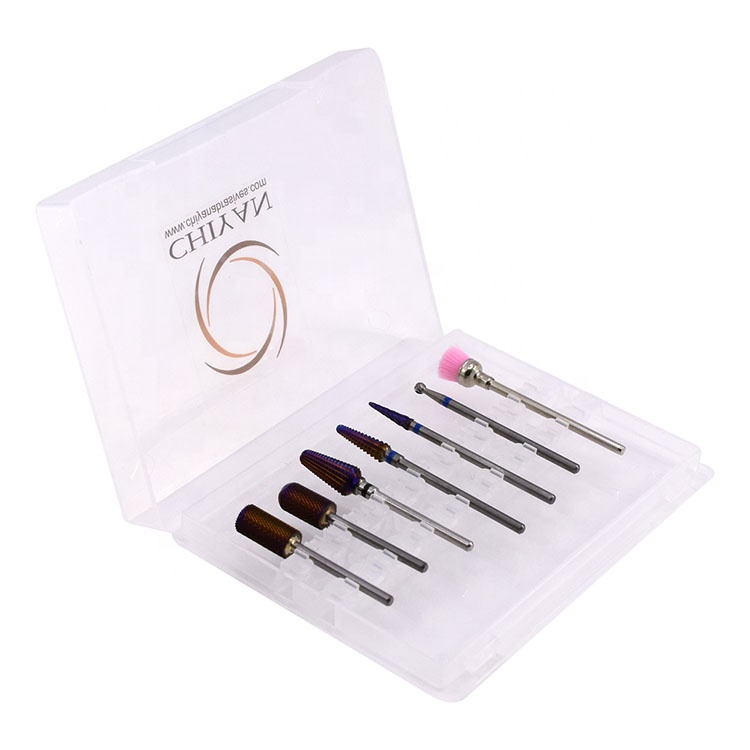 Оптовая продажа Профессиональный 5 в 1 биты карбида фрез для маникюра/педикюра вольфрама ногтей подачи биты для маникюра