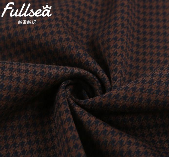 Модная окрашенная трикотажная жаккардовая ткань из переработанного волокна, полиэстера, спандекса, шерсти для платья