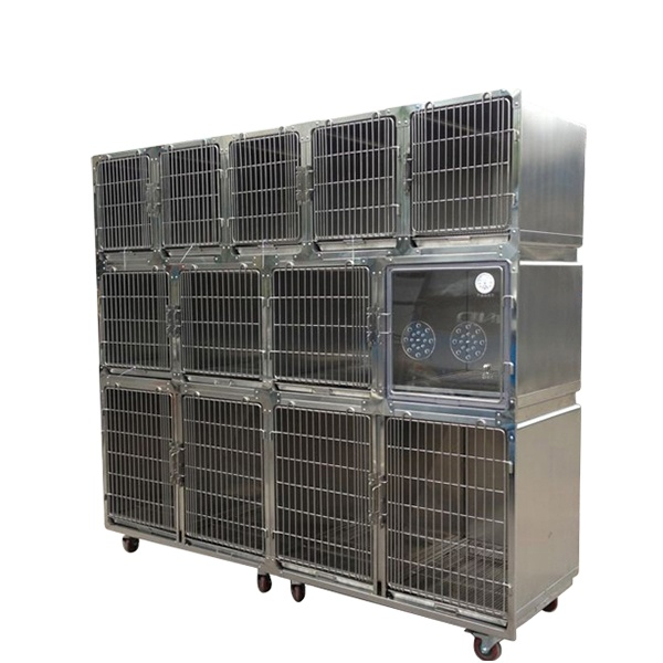 Good price Vet oxygen cage veterinary pet cage for animal clinic