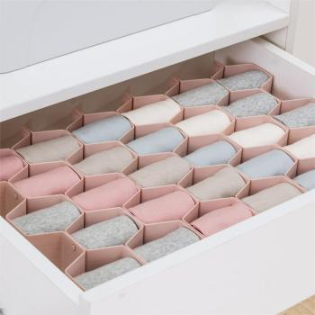 Honeycomb Shape Drawer Organizer 8 Pcs Closet Dividers Plastic Partition For Small Clothing And Cosmetic Clapboard