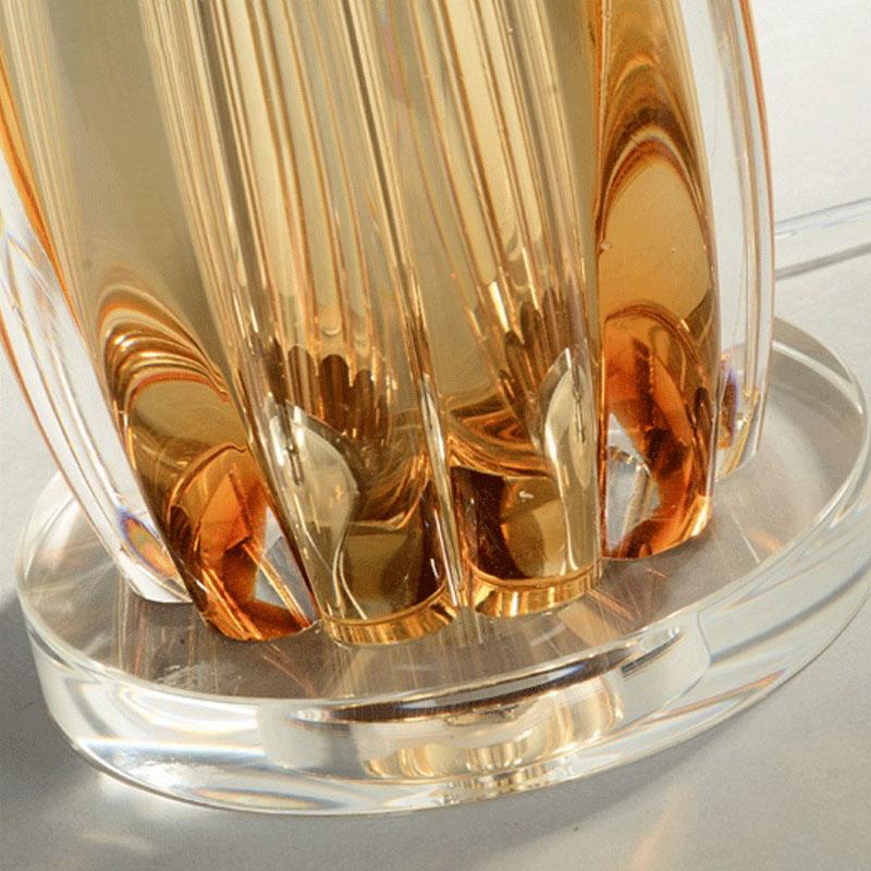 Настольные лампы ручной работы из янтарного стекла для гостиной