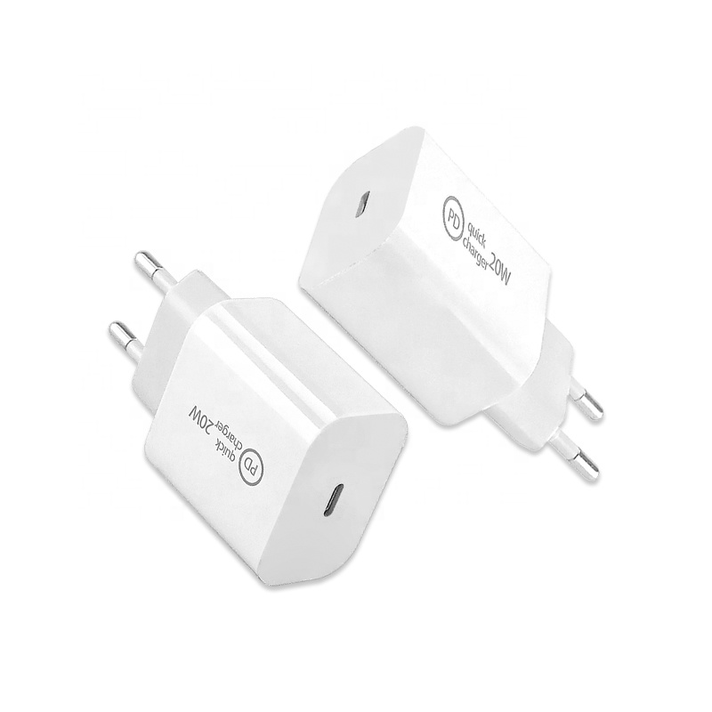 Hot Selling PD 20W USB C Charger 18W Type C to 8pin Data Cable for iPhone 12 11