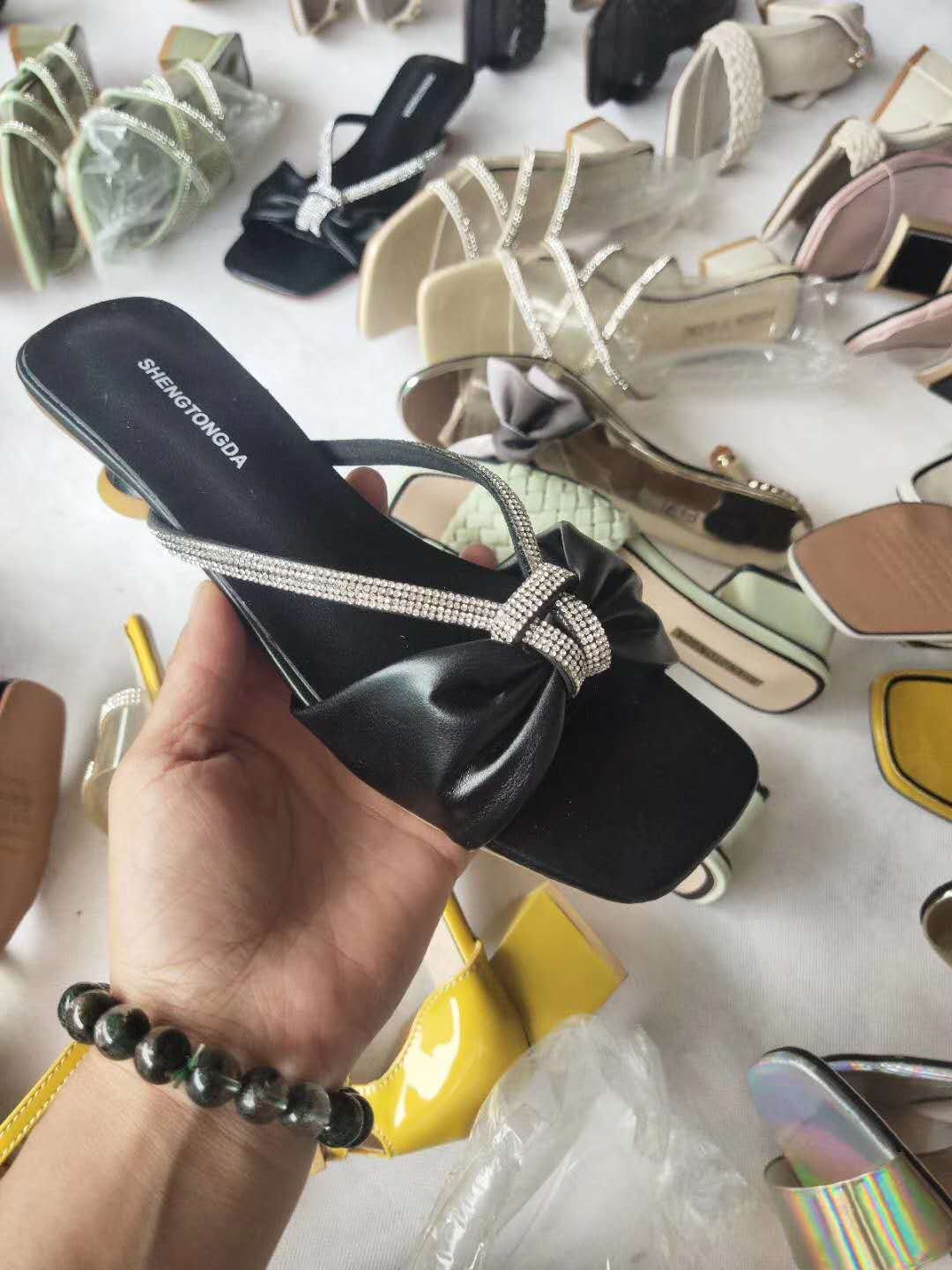2021 new fashion block heel sandals shoes wholesale for lady
