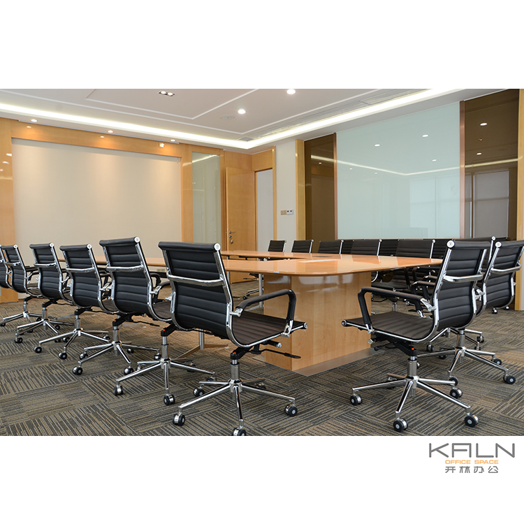 V shape modern style high quality customized factory price OEM green certification veneer finished meeting desk conference table