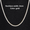4mm Gold Necklace