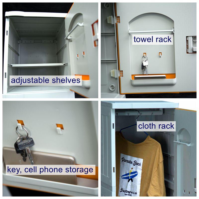Plastic lockers which durable than metal locker for school/gym