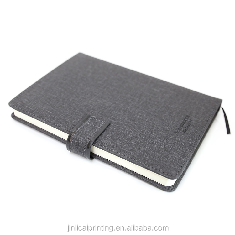 Wholesale custom luxury A5 PU leather diary notebook with logo printing