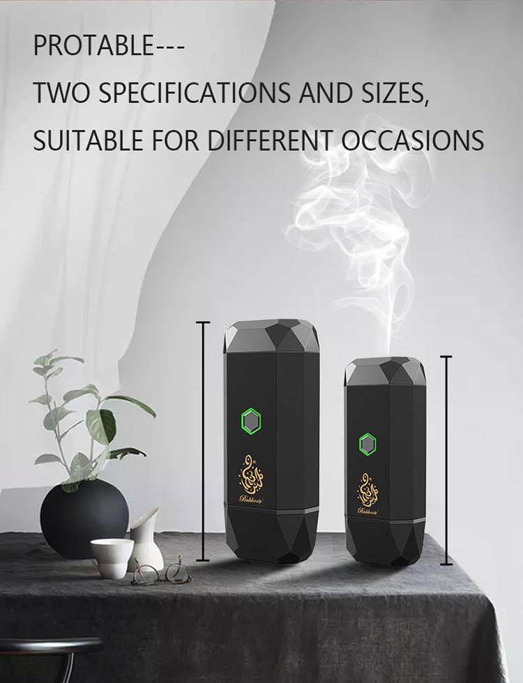 New Style Usb Type-C Power incense burner Bakhoor Portable Rechargeable Electric Incense Burner