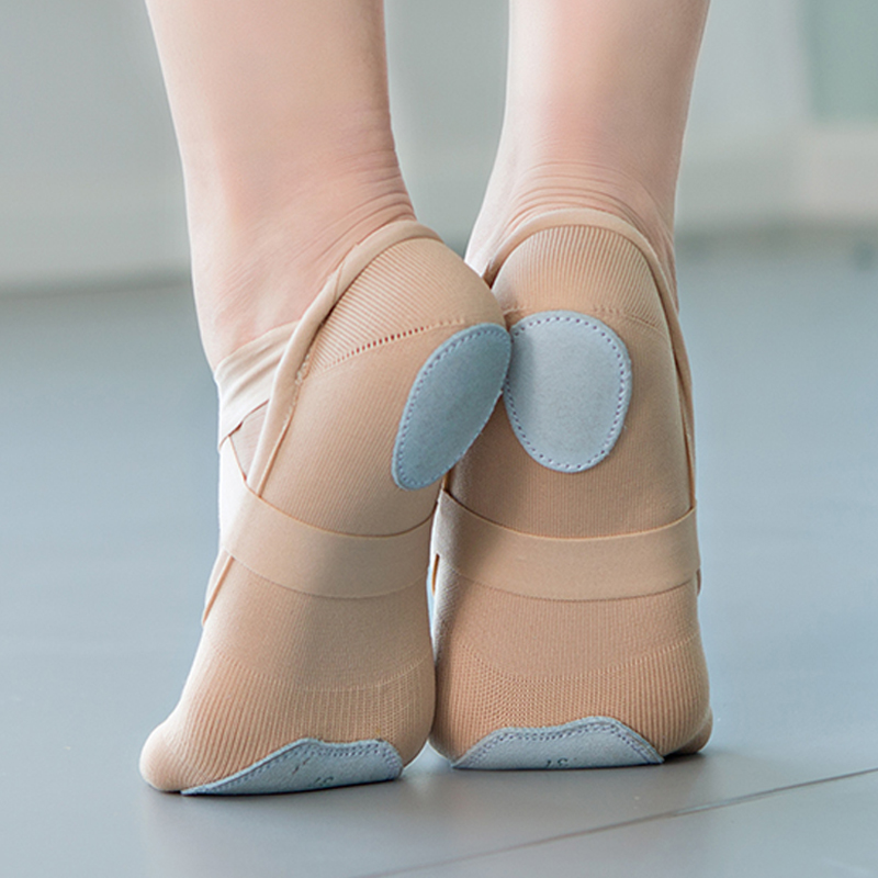 Caramel Stretch Knitted Ballet Shoes Dance Ballet For Woman