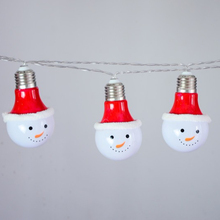 Xmas พลาสติก 3D Snowman ตกแต่งไฟ LED LED String Light Holiday Home LIGHT