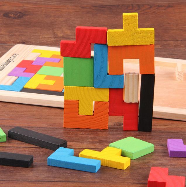 Детские игрушки, деревянная головоломка танграмма, игра, обучающая головоломка, головоломки, головоломка для мозга, игрушка-пазл