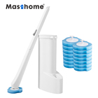 Masthome 2020 Bathroom Plastic Cleaning With Holder Silicon Clean Replacement Disposable Toilet Brush
