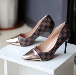 2021 New High Heels Shallow Mouth Pointed High Heels Fashion Women's Shoes