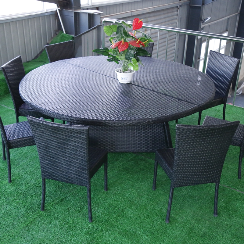 Outdoor Rattan Wicker Furniture Wrought Iron Frame Garden Table Chair Buy And Chairs Restaurant Dining Product On Alibaba Com
