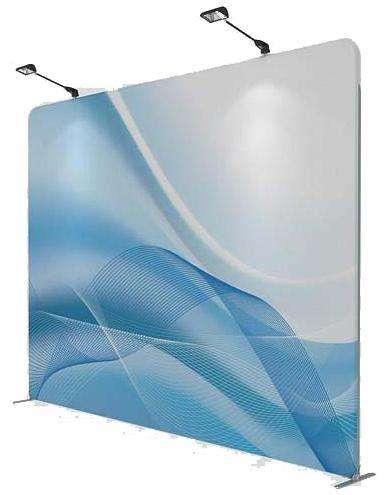 10*10 и 10*20 футов Натяжной тканевый дисплей фото стенд фоны для мероприятий и выставочных кабин алюминий