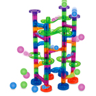 Educational Toy Amazon Hot Sale 86pcs Transparent ABS Kids Educational Marble Run Blocks Toy Set