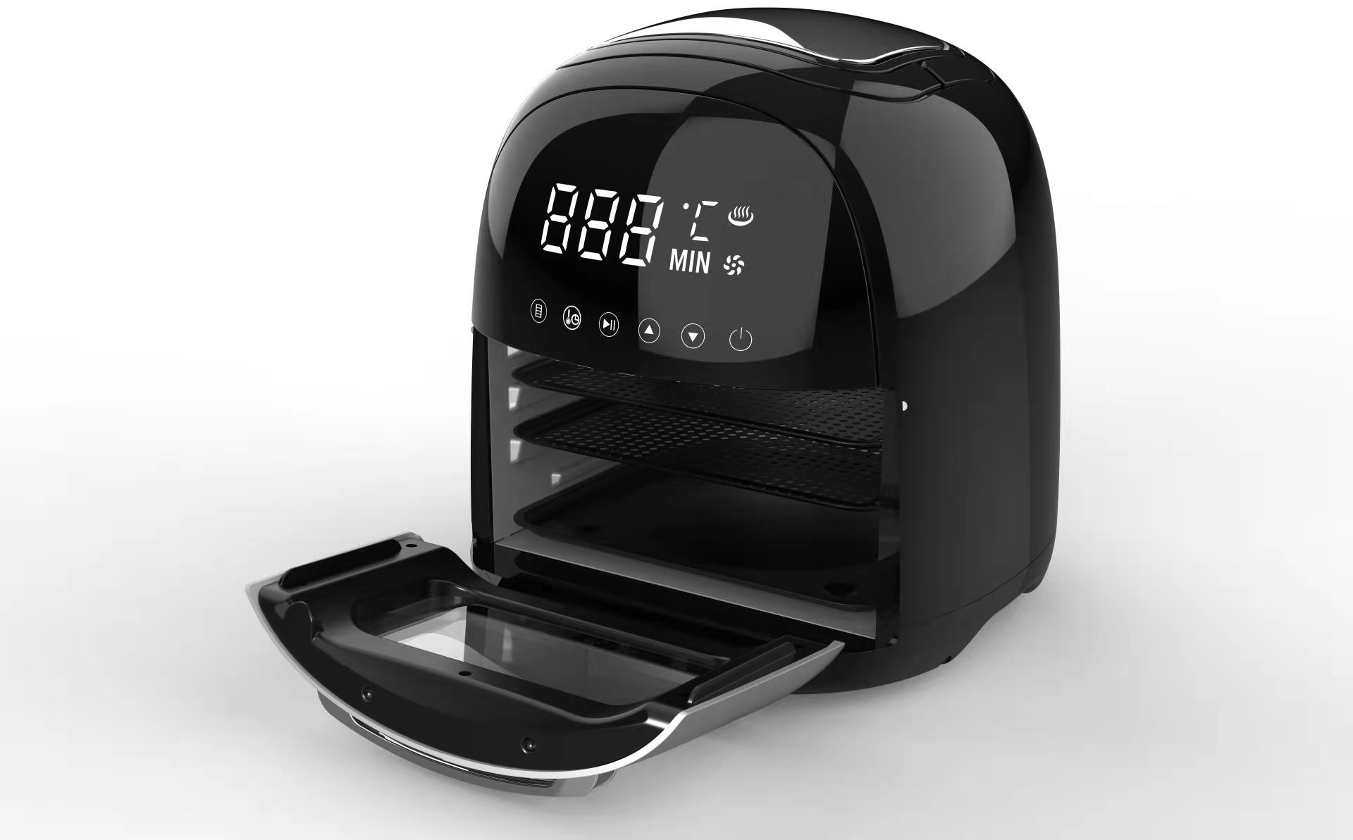 Top sale guaranteed quality 220V healthy way for frying without oil LED display with touch screen air fryer