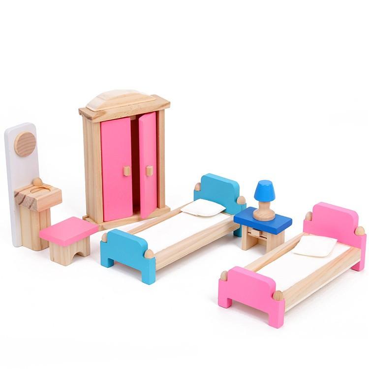 Оптовая продажа 2020 мебель игрушки для детей деревянный кукольный домик магазин игра деревянная мебель для малышей