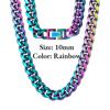 10mm Rainbow Fold Clasp Cuban Chain