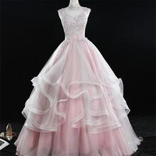 It's YiiYa Свадебные платья 2020 элегантное розовое свадебное платье принцессы размера плюс кружевное платье De Mariee Длинные свадебные платья CH148(Китай)