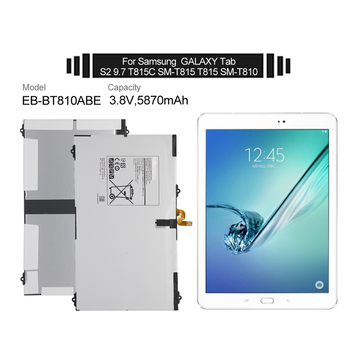 5870mAh Tablet Battery EB-BT810ABE For Samsungs GALAXY Tab S2 9.7 T815C SM-T815 SM-T810 SM-T817A T813 T819 Replacement Battery