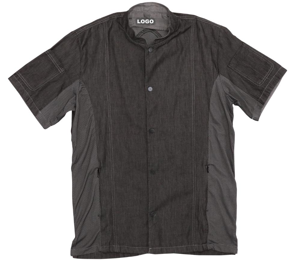 Black cheap Executive Chef cooking Uniform Coat For Mens