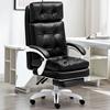 Black leather+footrest