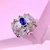 18k white gold 0.55ct natural sapphire rings