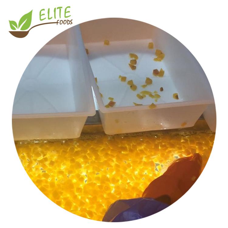 Замороженный персик IQF, замороженные кубики персика, замороженный желтый персик, новый сезон