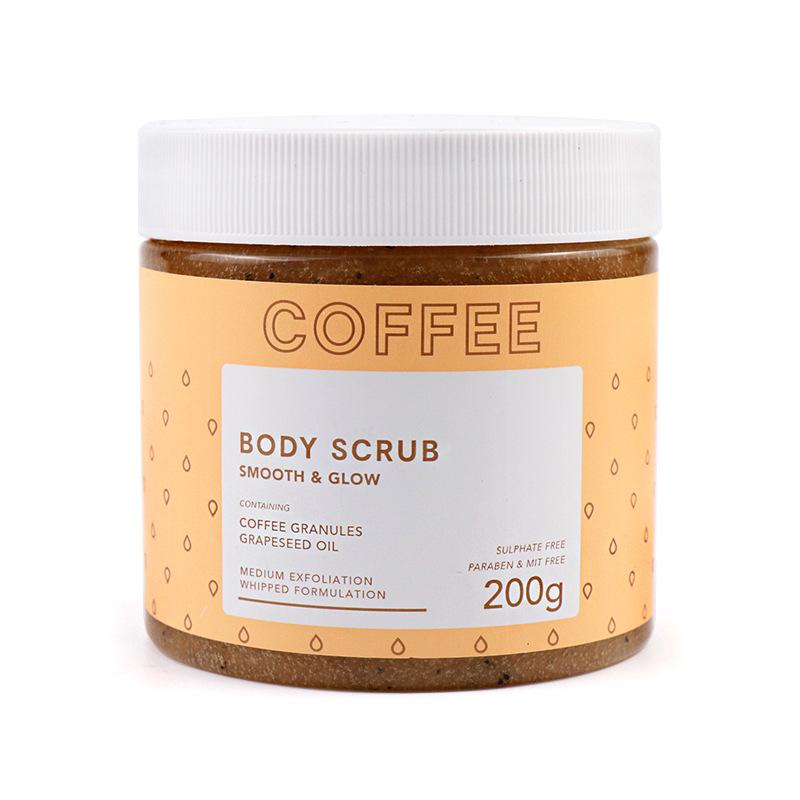 Отбеливающий натуральный кокосовый ингредиент, какао-арабика, кофейные зерна, скраб для тела с частной маркой, Травяной Скраб для тела