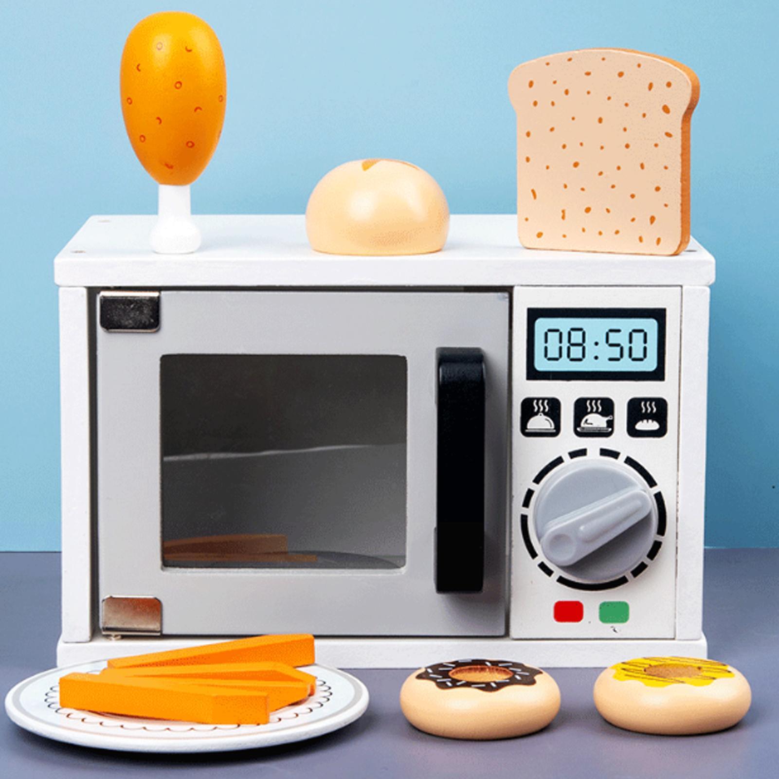 Juguetes De Cocina De Simulación De Madera Para Niños Horno Microondas Alimentos Para Hornear Juegos Interactivos Para Padres E Hijos Juguetes De Cocina Aliexpress