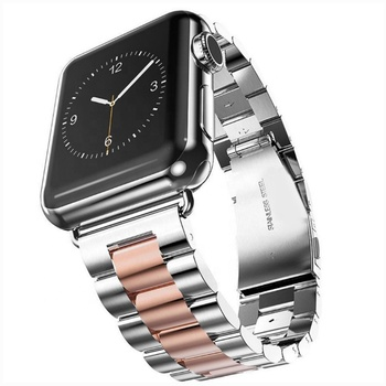 Stainless steel watch strap for apple iphone iwatch 1 2 3 4 5 6 SE series smart watch band universal quick release metal straps